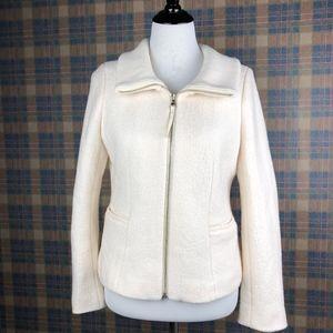 Ann Taylor Cream Jacket in size 12 - EUC